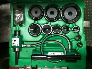 Greenlee 7310sb Hydraulic Slug Buster Knock Out Punch Set 1 2 To 4 b43