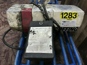 Coffing Hoists 1283 W chain 460v 3 Hp 60hz 1 2 Ton Capacity local Pick Up Only