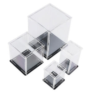 Acrylic Display Case Self assembly Clear Cube Box Uv Dustproof Toy Protect Sqi4