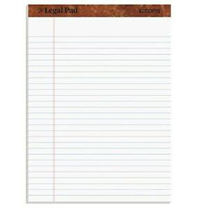 Tops The Legal Pad Writing Pads 8 1 2 X 11 3 4 Legal Rule 50 Sheets 12 Pack