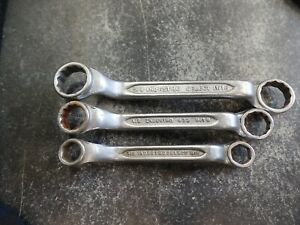 Indestro Tools Usa Double Box End Wrench Stubby Wrench Lot Of 3