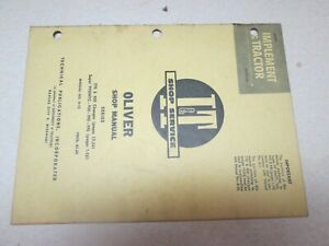 Oliver 99 950 990 995 770 880 Tractor I t Service Manual