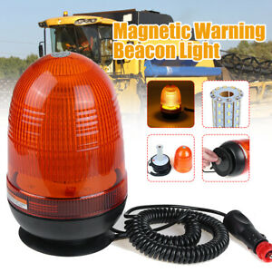 Magnetic Amber 80led Rotate Strobe Car Top Light Emergency Warning Beacon Lights