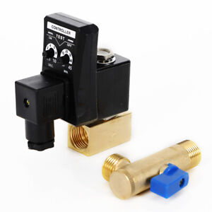 110v 2 Way 1 2 Direct acting Auto Timing Drain Valve Abs 5mm For Air Compressor