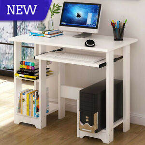 Wood Computer Desk Pc Workstation Study Writing Table Home Office W cpu Stand