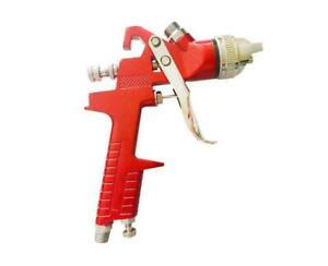 1 4mm Nozzle 1l Cup Car Hvlp Spray Gun Gravity Feed Tool Red Handle Paint Set
