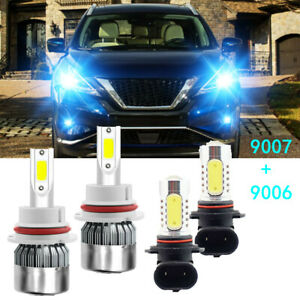 For Nissan Murano 2003 2007 Combo Led Headlight High low Beam Foglight 4 Bulbs