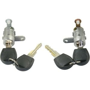 New Set Of 2 Door Lock Cylinders Driver Amp Passenger Side For Chevy Lh Rh Pair
