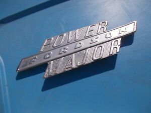 Fordson Major Diesel Tractor Original Power Major Chrome Hood Side Panel Emblem