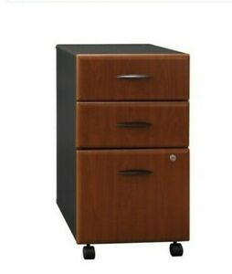 Bush Business Furniture Series A 3 Drawer Mobile File Cabinet In Hansen Cherry