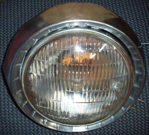 1954 54 Chevrolet Car Headlight Assembly With Bucket Bezel Housing Trim