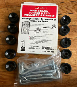 Dare High Strain Corner End Insulator Assembly Lot Of 10 Item 451 Electric