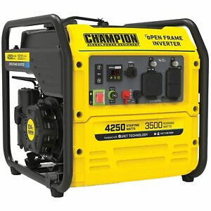 Champion 200955 3500 Watt Rv ready Open Frame Inverter Generator W Quiet T