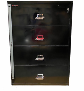 Fireking File Cabinet Lateral Legal 37 1 2 4 Drawer Fireproof Water Impact