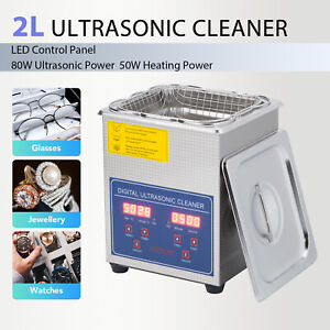 Ultrasonic Cleaner Cleaning Equipment Liter Industry Heated W timer Heater 2l