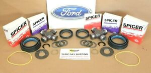 F250 F350 Excursion 98 04 Front Axle Seal Greasable U Joint Thrust Washer Kit