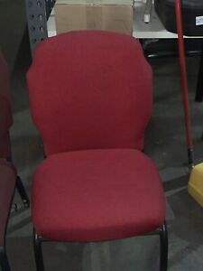 Banquet Chairs Flex Back Wine Red Fabric Good Condition