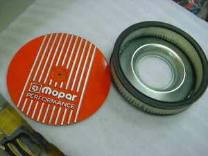 Mopar Performance Round Aluminum Top W Fins Air Cleaner Assembly