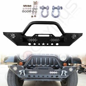 For Jeep Wrangler Jk 2007 2018 Front Bumper Assembly Pickup Steel