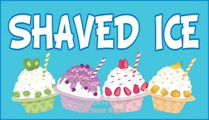 choose Your Size Shaved Ice Decal Food Truck Vinyl Sign Concession