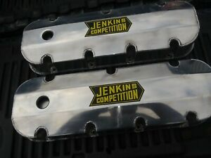 Bbc Chevy 396 402 427 454 Polished Fabricated Aluminum Sheet Metal Valve Covers
