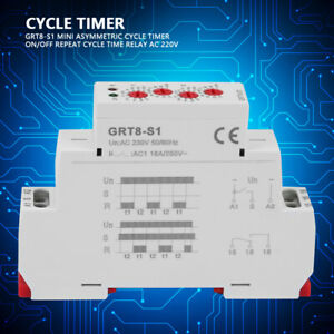 On off Repeat Cycle Relay 16a ac1 Ac 230v Asymmetric Cycle Timer Din Rail