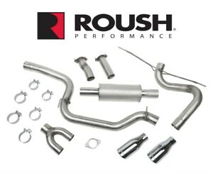 2013 2018 Ford Focus Roush 3 High Flow Cat Back Performance Exhaust System