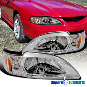 For 1994 1998 Ford Mustang 1pc Head Lights Corner Lamps Replacement