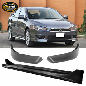 Fits 08 15 Mitsubishi Lancer Oe Style Front Bumper Lip Side Skirts Pp