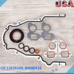 For Gm Chevy Ls Vortec 4 8 5 3 5 7 6 Front Timing Cover Gasket Set Ls1 Ls2 Ls3