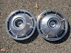 Genuine 1966 Chevy Impala 14 Inch Hubcaps Wheel Covers