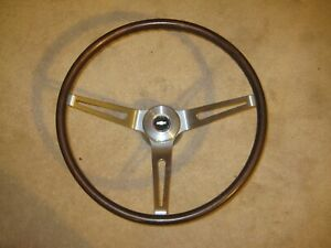Corvette Camaro Woodgrain Steering Wheel 9778079 Original 1967 1968 1969