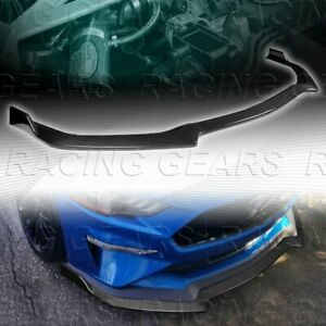Gt style Carbon Style Front Bumper Spolier Splitter Lip Fit 18 20 Ford Mustang