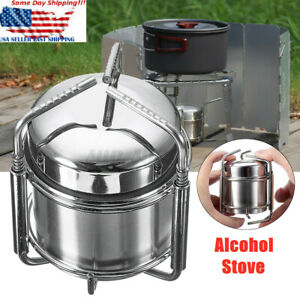 Outdoor Portable Picnic Liquid Burner Alcohol Stove Camping Cooking With Ba
