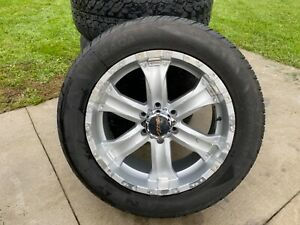 H3 Hummer Wheel Tire Set 5 Custom Silver Wheels Rims 285 50r20 112v