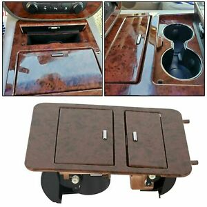 23164631 Console Cup Holder Storage Woodgrain For 07 14 Chevy Gmc Truck Suv