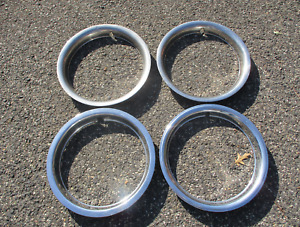 1973 To 1998 Chevy Gmc 1500 Suburban Pickup Tru 15 Inch Metal Trim Rings Beaters