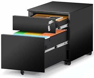 2 Drawer Mobile File Cabinet With Lock Metal Filing Cabinet For Legal letter a