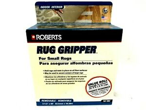Roberts Rug Gripper 2 Sided Tape For Small Rugs 2 1 2 X 60 Removable Indoor