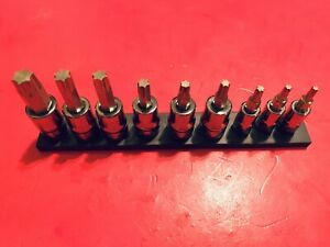 Snap On 1 4 3 8 Dr 9pc Torx Heavy Duty Removal Socket Set