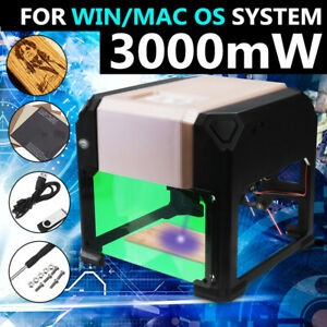 3000mw Cnc Laser Engraving Cutting Machine Engraver Cutter Diy Logo Mark Printer