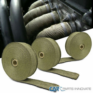 3x 50 Titanium Carbide Fiber Exhaust Pipe Header Wrap Ties For Car Motorcycle