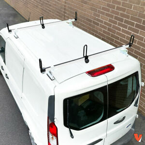 Heavy Duty 2 Bar White Gfy Ladder Roof Rack Fits Ford Transit Connect 2014 On