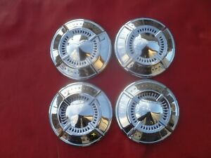 Vintage Nos 1961 62 Chevy Impala 409 Dog Dish Poverty Hubcaps Wheel Covers