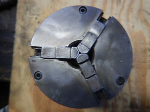 Older Cushman 3 Jaw Metal Lathe Chuck With South Bend 1 1 2 8 Mount Plate