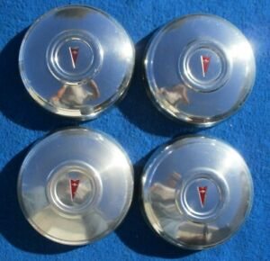 1968 1972 Pontiac Poverty Dog Dish Hubcap Original Gm Set Of 4 Stainless Steel