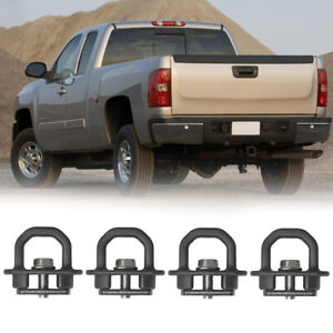 4pcs Tie Down Anchors Truck Bed Side Wall Anchor For 07 20 Chevrolet Silverado