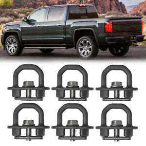6pcs Tie Down Anchors Truck Bed Side Wall Anchor For 07 20 Chevrolet Silverado
