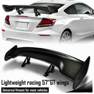 Universal Type 3 57 Carbon Fiber Adjustable Rear Trunk Gt Style Spoiler Wing Us