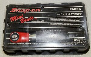 Snap On Tools Far25 Mini Brute 1 4 Air Ratchet New Old Stock New 5 25 Ft Lbs